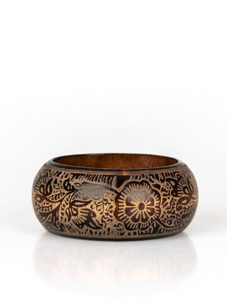 Paparazzi Accessories - Beach Retreat Brown Wood Bracelet - Bracelets