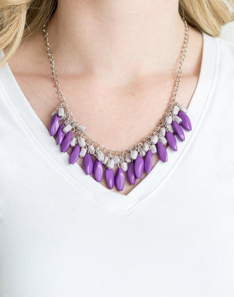 "Paparazzi Accessories - Paparazzi Bead Binge"" - Purple - Necklaces"
