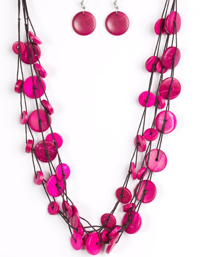 Paparazzi Accessories - Bermuda Beach House - Pink - Necklaces