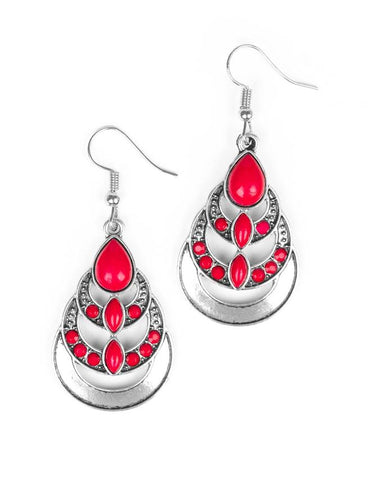 "Paparazzi Accessories - Paparazzi ""Boho Brilliance"" - Pink - Earrings"