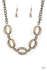 Paparazzi Accessories - Boss Boulevard - Brass Paparazzi Necklace - Necklaces