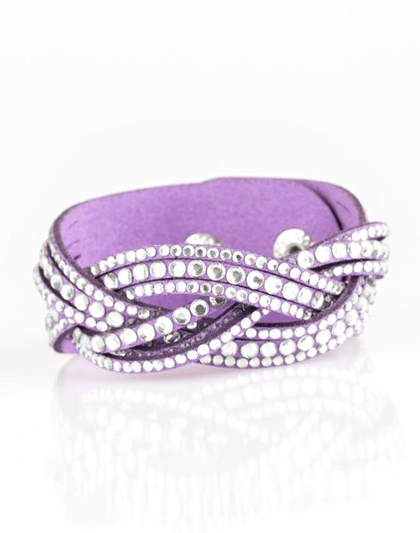 "Paparazzi Accessories - Paparazzi ""Bring On The Bling"" - Purple - Bracelets"