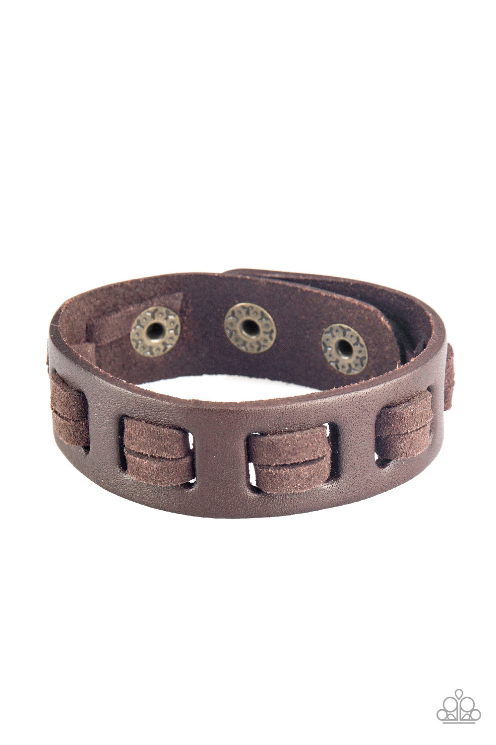 "Paparazzi Accessories - Paparazzi ""Bring Out The West In You"" Brown Suede Leather Urban Wrap Bracelet Unisex - Bracelets"