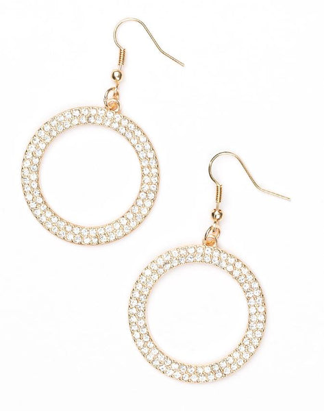 "Paparazzi Accessories - Paparazzi ""Bubbly Babe"" - Gold - Earrings - Earrings"