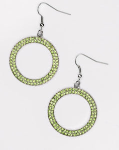 "Paparazzi Accessories - Paparazzi ""Bubbly Babe"" - Green Earring - Earrings"