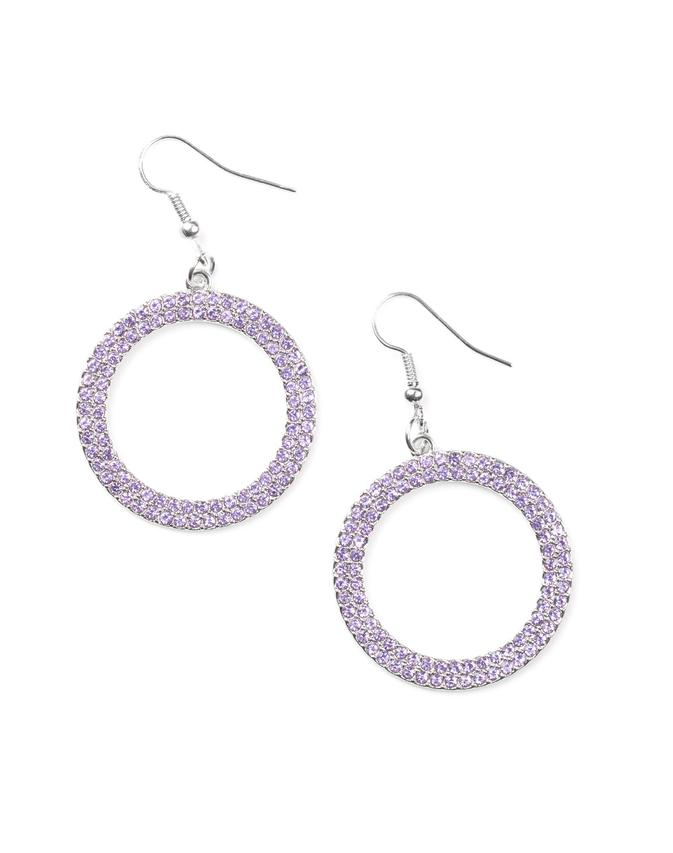 Paparazzi Accessories - Bubbly Babe - Purple - Earrings