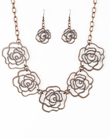 Paparazzi Accessories - Budding Beauty - Copper - Necklaces