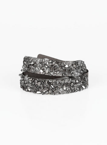 "Paparazzi Accessories - Paparazzi ""CRUSH Hour"" - Silver Bracelet - Bracelets"