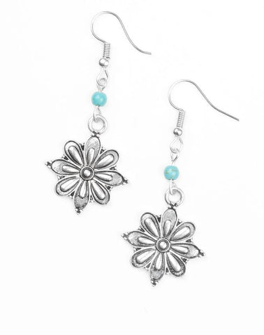 "Paparazzi Accessories - Paparazzi ""Cactus Blossom"" - Blue - Earrings"