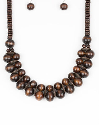 "Paparazzi Accessories - Paparazzi ""Caribbean Cover Girl"" - Brown - Necklaces"