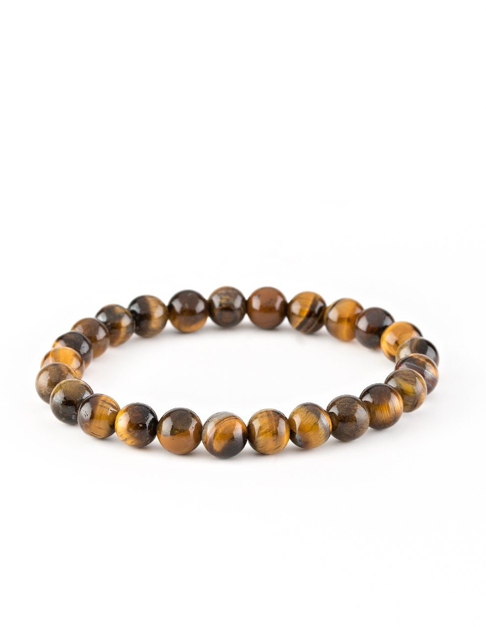 "Paparazzi Accessories - Paparazzi ""Centered"" Brown Tigers Eye Stone Bracelet - Bracelets"