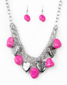 "Paparazzi Accessories - Paparazzi ""Change Of Heart"" - Pink - Short necklace"