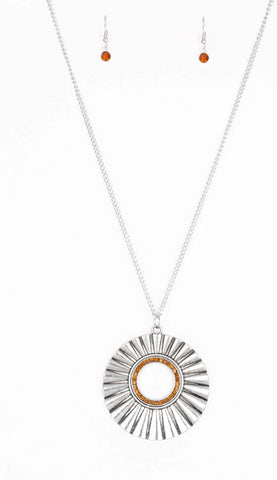 "Paparazzi Accessories - Paparazzi ""Chicly Centered""- Brown - Necklaces"