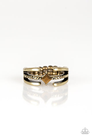 "Paparazzi Accessories - Paparazzi ""City Center"" - Brass - Rings"