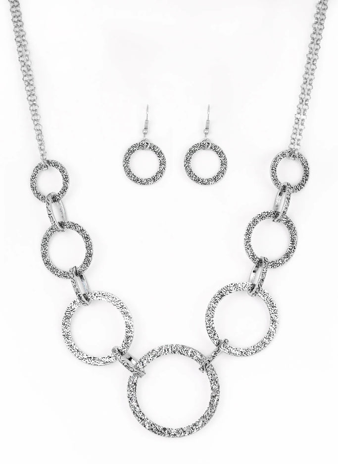 "Paparazzi Accessories - Paparazzi ""City Circus"" - Silver - Necklaces"