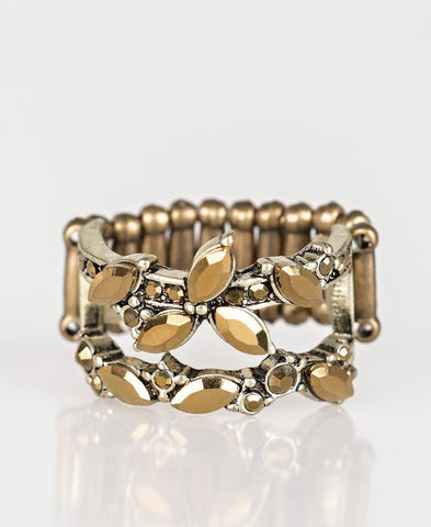 Paparazzi Accessories - Cosmo Collection - Brass Ring - Rings