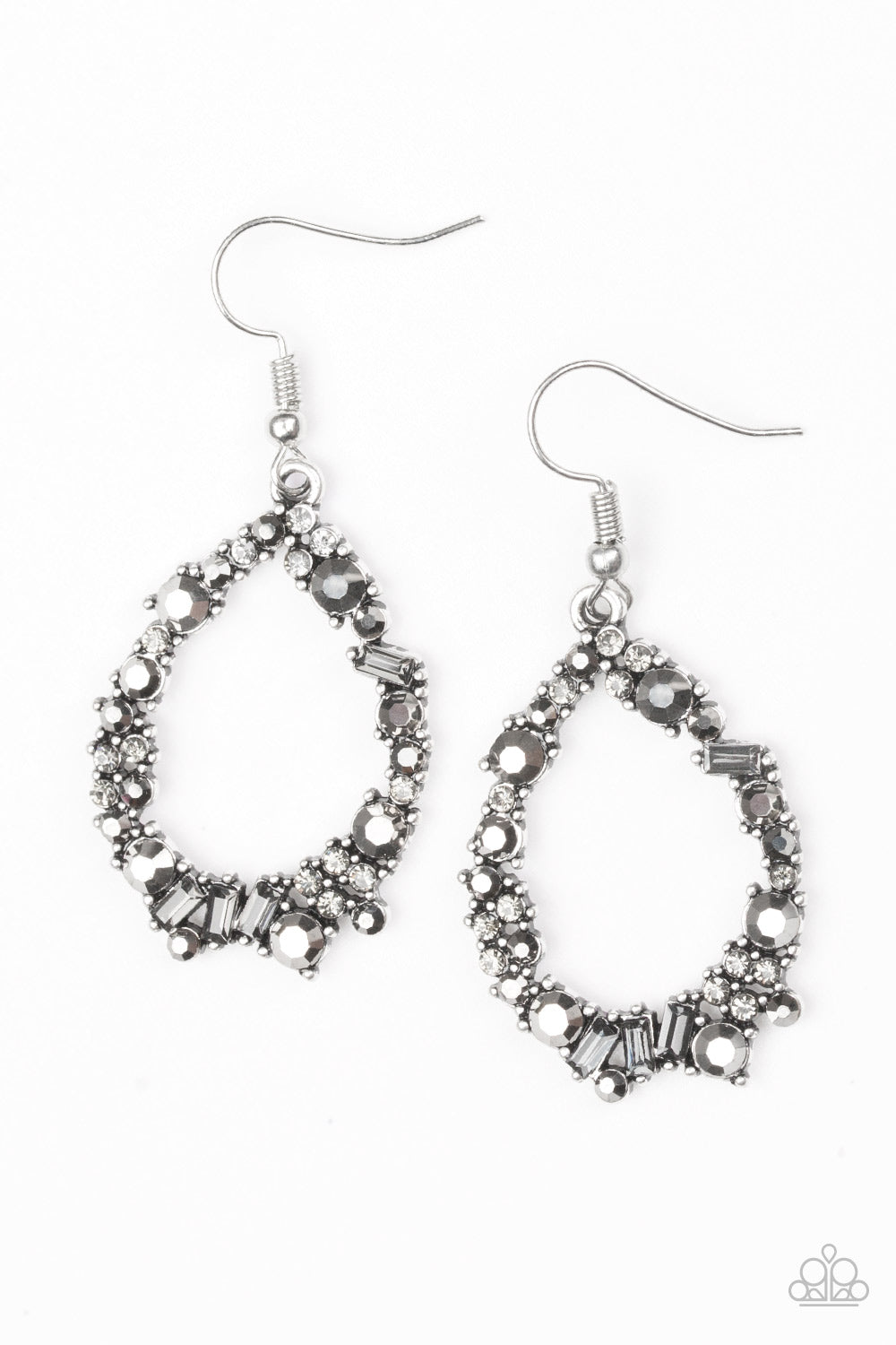 "Paparazzi Accessories - Paparazzi Earring - ""Crushing Couture""- Silver - Earrings"