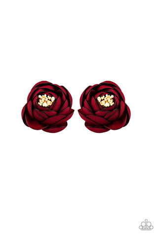 Paparazzi Accessories - Paparazzi Hair Accessories - Dapper In Dahlias - Red - Hair Accessories