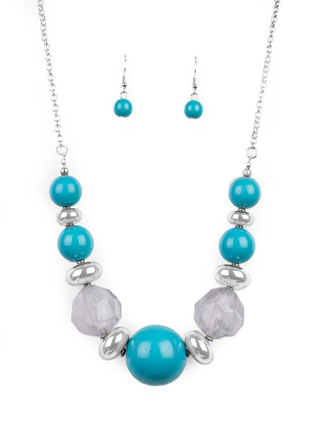 Paparazzi Accessories - Daytime Drama - Blue - Necklaces