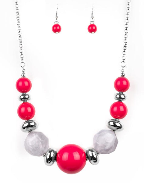 "Paparazzi Accessories - Paparazzi ""Daytime Drama"" - Pink - Necklaces"