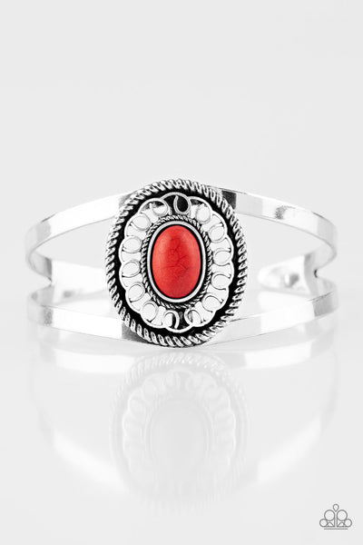 "Paparazzi Accessories - Paparazzi Bracelet ""Deep In The TUMBLEWEEDS"" Red - Bracelets"