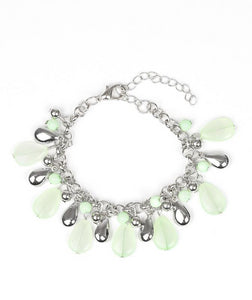 "Paparazzi Accessories - Paparazzi ""Definitely Diva"" - Green Bracelet - Bracelets"