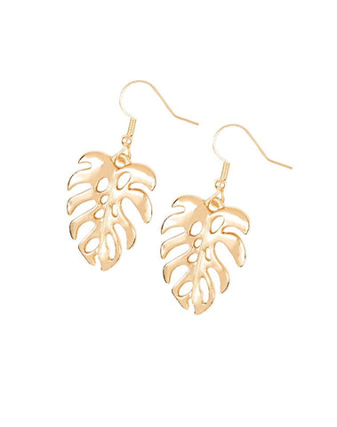 "Paparazzi Accessories - Paparazzi ""Desert Palms"" - Gold - Earrings"