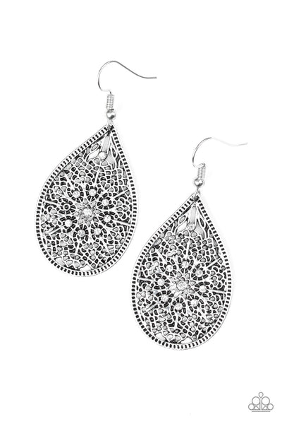 "Paparazzi Accessories - Paparazzi Earring - ""Dinner Party Posh"" - White - Earrings"