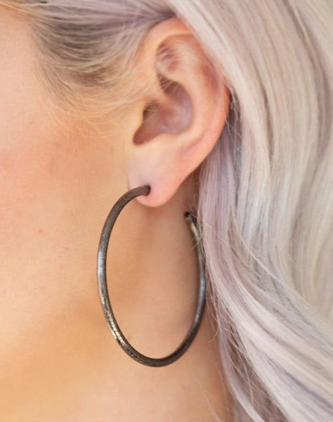 "Paparazzi Accessories - Paparazzi ""Double Or Nothing"" - Black - Earrings"