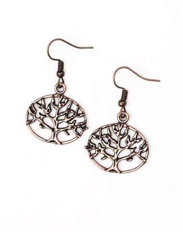 Paparazzi Accessories - Dream TREEHOUSE Copper Earring - Earrings
