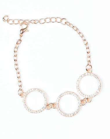 "Paparazzi Accessories - Paparazzi ""Dress The Part"" - Rose Gold - Bracelets"