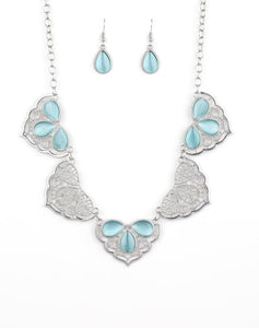 "Paparazzi Accessories - Paparazzi ""East Coast Essence"" - Blue - Necklaces"