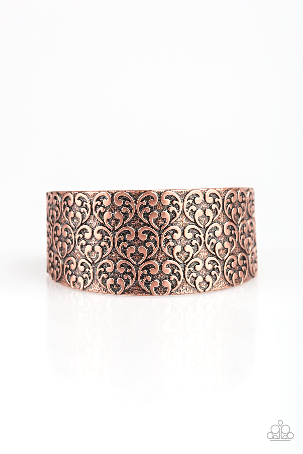 Paparazzi Accessories - Eat Your Heart Out | Vintage Copper | Heart Paparazzi Bracelet - Bracelets
