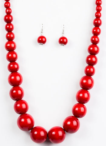Paparazzi Accessories - Effortlessly Everglades - Red - Necklaces
