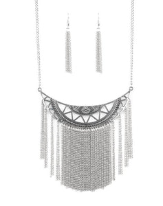 Paparazzi Accessories - Empress Excursion - Silver - Necklaces