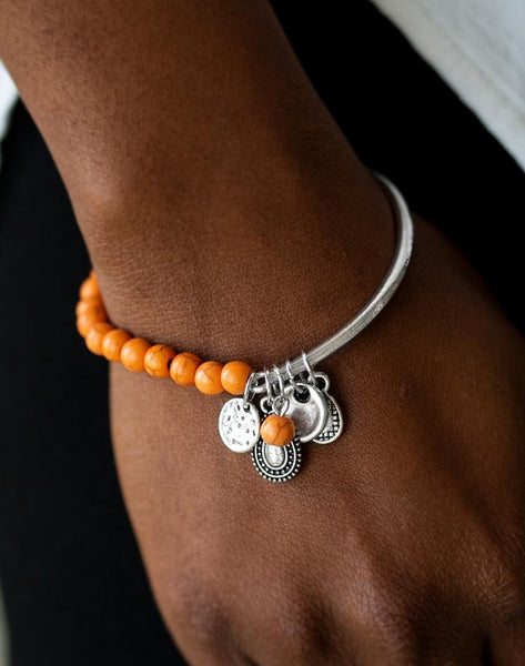 "Paparazzi Accessories - Paparazzi Bracelet ""Ever Everest"" Orange - Bracelets"