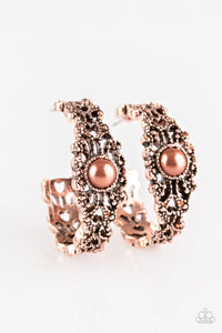 Paparazzi Accessories - Exquisite Expense | Copper Hoop | Paparazzi Earring - Earrings