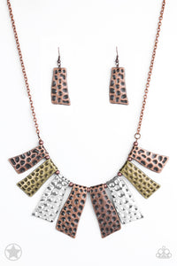 Paparazzi Accessories - Paparazzi Necklace - A Fan of the Tribe Blockbuster - Copper, Silver, Brass Plate - Necklaces