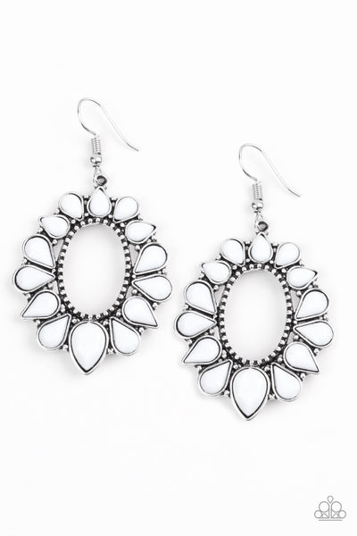 "Paparazzi Accessories - Paparazzi Accessories ""Fashionista Flavor"" Black Teardrop Silver Studded Earring - Earrings"