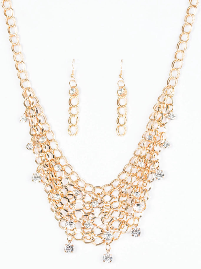 Paparazzi Accessories - Paparazzi Necklace- Fishing for Compliments - Gold - Necklaces