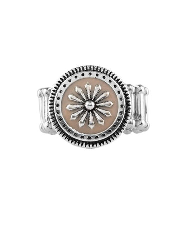 "Paparazzi Accessories - Paparazzi ""Free-Spirited Flower"" - Brown - Rings"