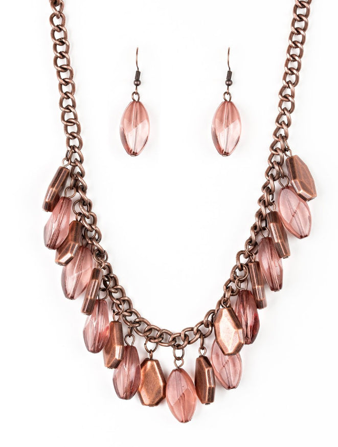 Paparazzi Accessories - Paparazzi Necklace - Fringe Fabulous - Copper - Necklaces