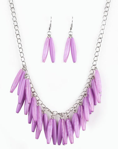 "Paparazzi Accessories - Paparazzi ""Full Of Flavor"" - Purple Necklace - Necklaces"