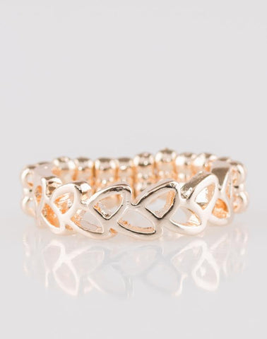 "Paparazzi Accessories - Paparazzi ""Garland Grandeur"" - Rose Gold Ring - Rings"