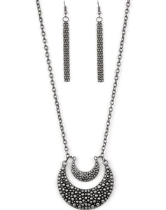 "Paparazzi Accessories - Paparazzi ""Get Well MOON"" - Silver - Necklaces"