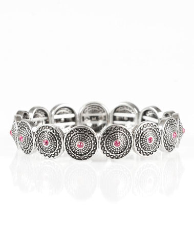 "Paparazzi Accessories - Paparazzi ""Get Your Shine On"" - Pink Bracelet - Bracelets"