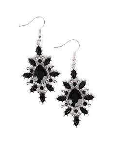 "Paparazzi Accessories - Paparazzi ""Glamorously Colorful"" - Black - Earrings"