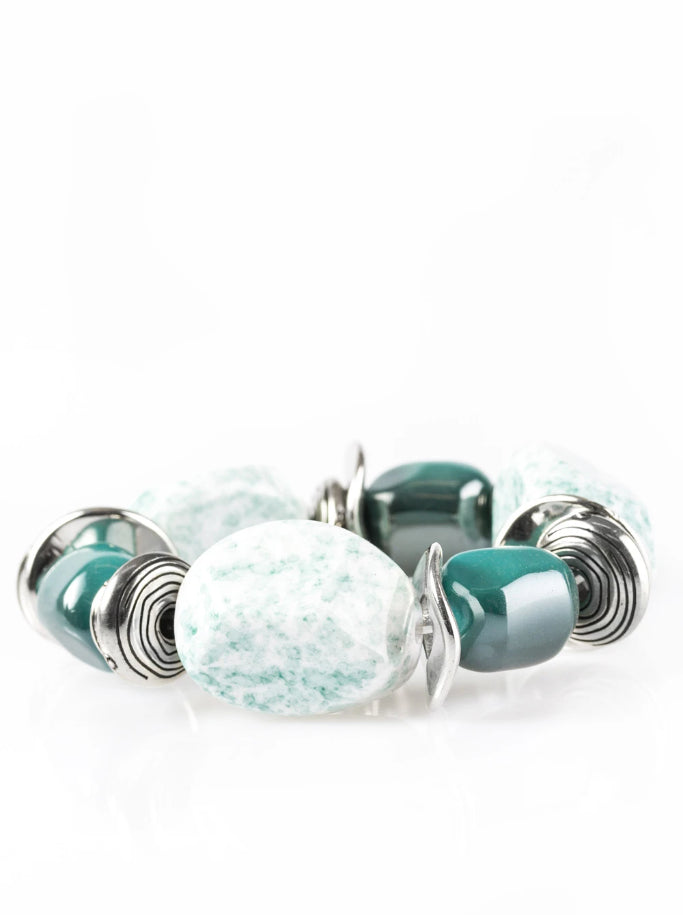 "Paparazzi ""Glaze of Glory"" - Blue Bracelet"