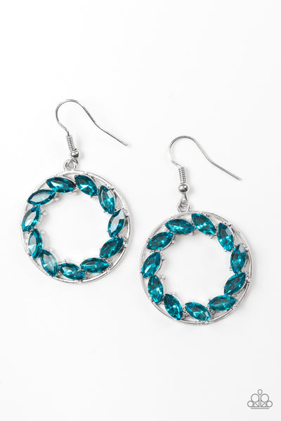 Paparazzi Accessories - Paparazzi Earring - Global Glow - Blue - Earrings