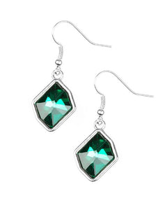 "Paparazzi Accessories - Paparazzi ""Glow it Up"" Green - Earrings"